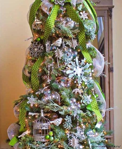 Снежинки из картонных рулончиков для украшения новогодней елки (2) (510x621, 309Kb)