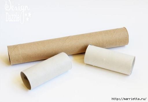 Снежинки из картонных рулончиков для украшения новогодней елки (3) (512x352, 47Kb)