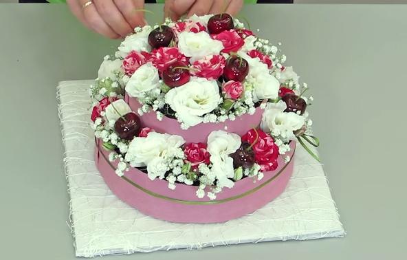 Цветочные торты своими руками