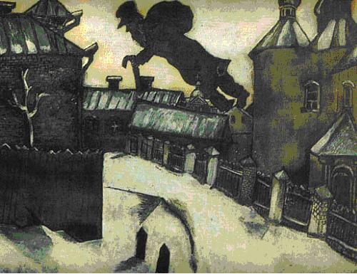 Шагал Старый Витебск (500x385, 354Kb)