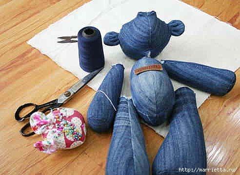 Шьем медведя из старых джинсов (3) (492x360, 91Kb)