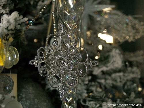 Новогодние звезды в технике квиллинг для украшения елочки (9) (500x375, 179Kb)