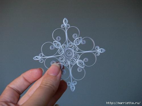 Новогодние звезды в технике квиллинг для украшения елочки (17) (500x375, 138Kb)