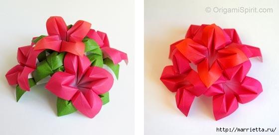 Цветы из бумаги в технике оригами. Видео мастер-класс (4) (560x272, 62Kb)