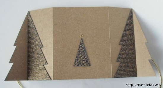 ЕЛОЧКА - новогодняя открытка своими руками (4) (550x297, 76Kb)