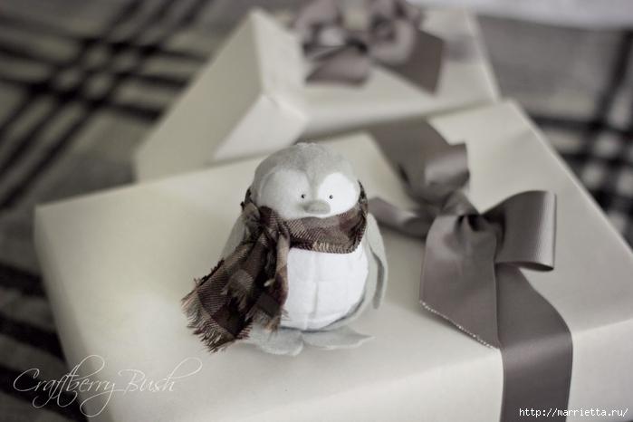 ПИНГВИН из фетра - елочная игрушка своими руками (4) (700x466, 166Kb)