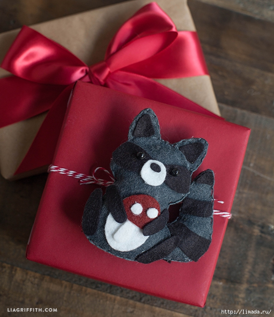Felt_Raccoon_Gift_Topper (560x649, 236Kb)