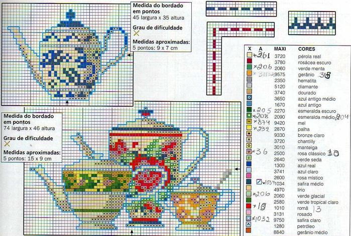Схема вышивки чашка 14
