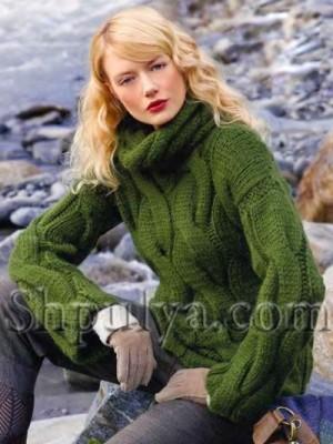 azhurnyi-seryi-pulover-shema (300x400, 36Kb)