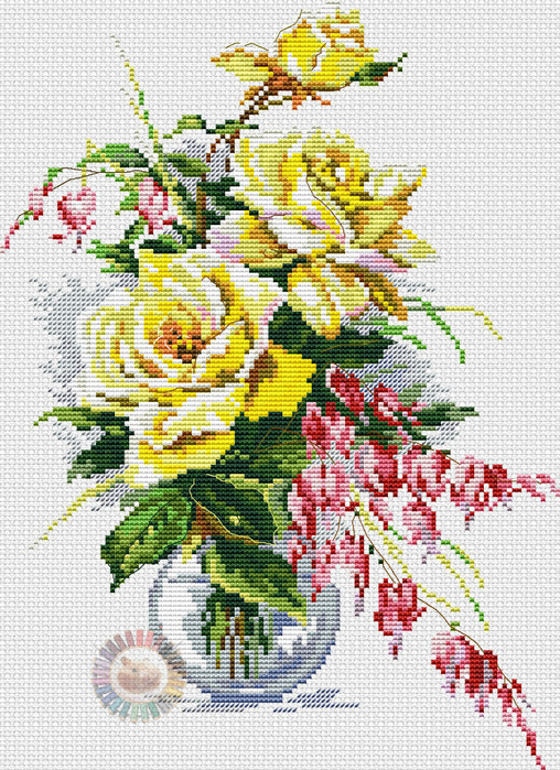 Yellow Roses (508x700, 526Kb)
