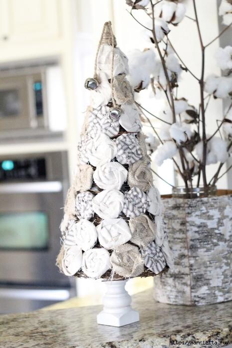 Текстильные новогодние елочки. Мастер-класс (13) (466x700, 247Kb)