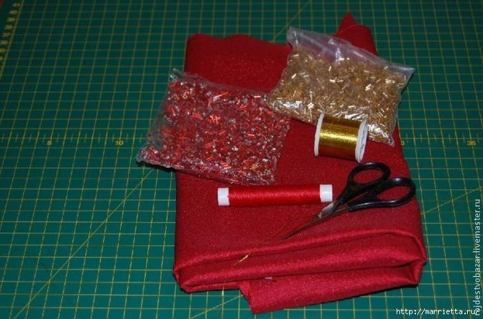 Рождественская пуансеттия из ткани (3) (700x462, 255Kb)