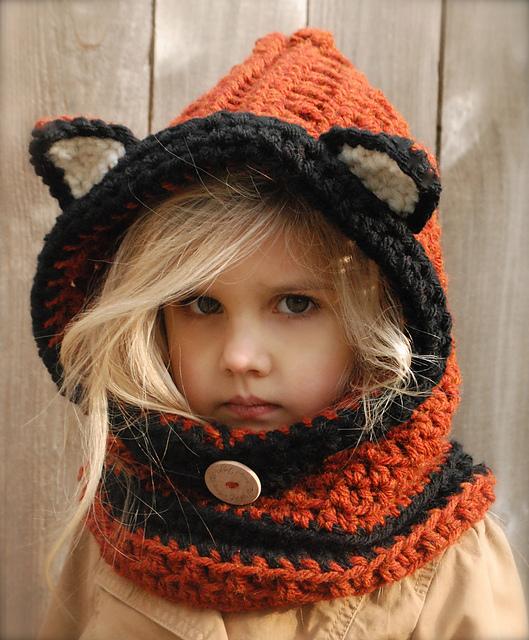 Связать шапку капюшон для ребенка