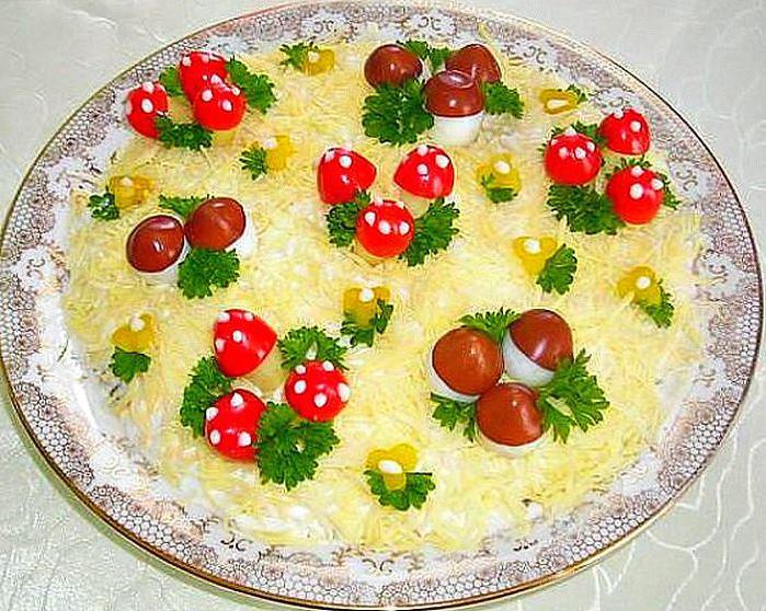 Украшение детских салатов с рецептом