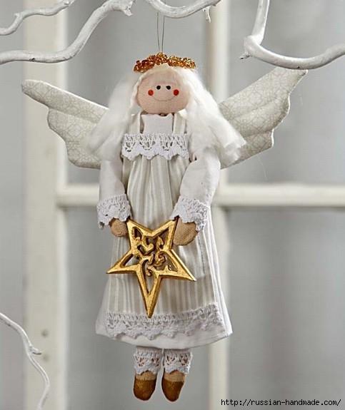 Рождественский ангел - текстильная подвеска для елочки (1) (483x575, 125Kb)