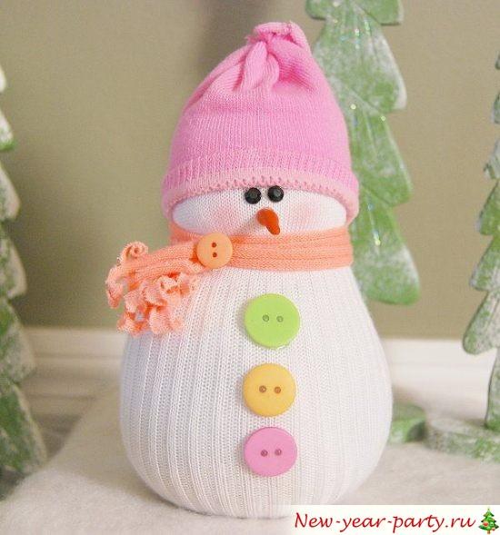 Шапочка для снеговика своими руками