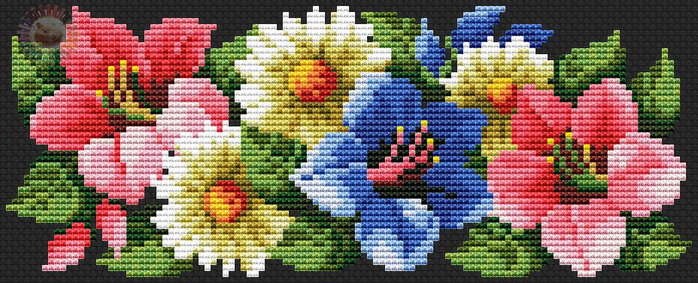 Lilies (700x283, 352Kb)