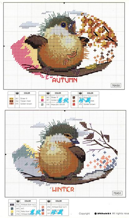 схемы птичек - Самое
