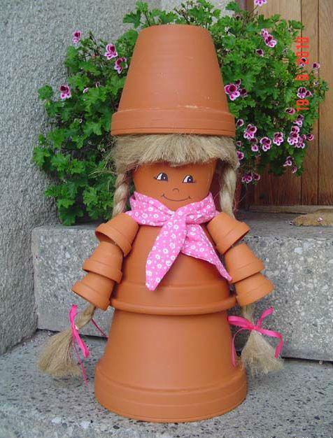 Куклы садовые своими руками