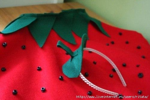 Новогодний костюм ягодка своими руками
