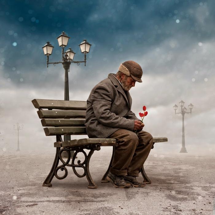anciano-sentado-banco-abandonado-flor (700x700, 377Kb)