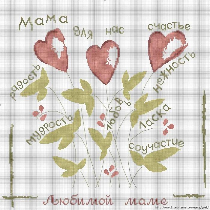 Вышивки схемы мама 43