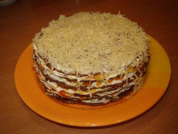 Как сделать тортик с печенью