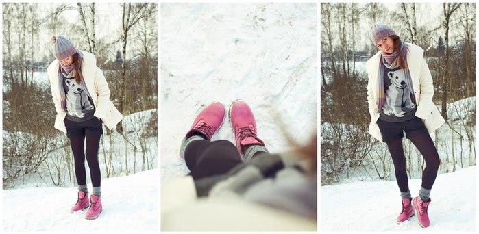 С чем носить красную обувь зимой