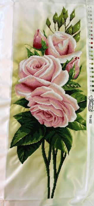 Вышивка бисером свежие розы от барвиста вышиванка 82