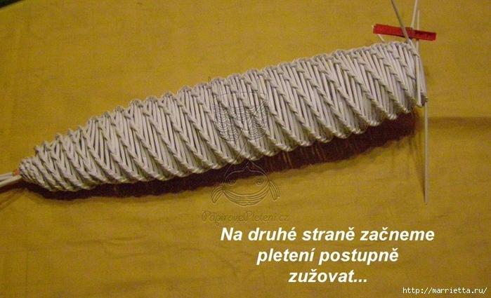 Новогодние подсвечники спиральным плетением из газет (9) (700x425, 242Kb)