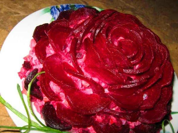Салаты розы с фото