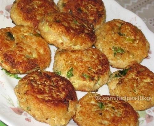 Котлеты из кабачка с фаршем на сковороде рецепт