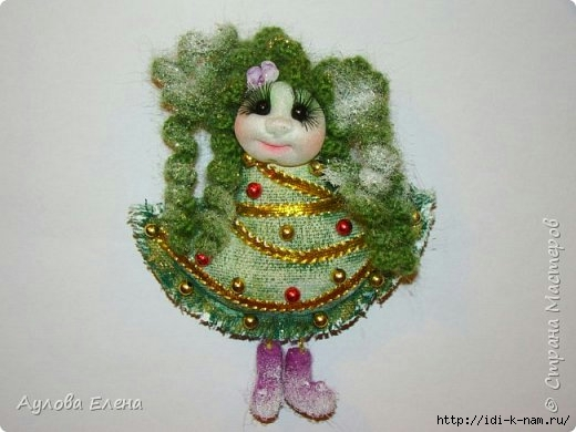 елочка магнит, как сделать елочку могнит, как сделать новогодний сувенир Хьюго Пьюго,
