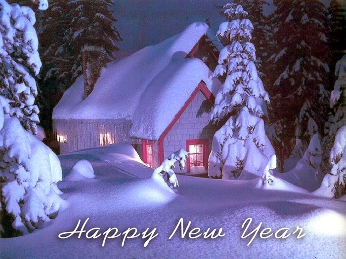 awesome hd snow fall wallpaper to say happy new year 2015 to your friends[1] (700x525, 145Kb)