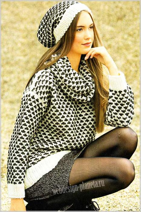 pulover-snud-i-shapochka-spitsami-s-uzorom-iz-snyatyh-petel-foto (467x700, 441Kb)