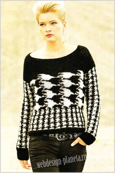 zhenskij-pulover-spitsami-s-uzorom-kurinaya-lapka-foto (465x700, 291Kb)
