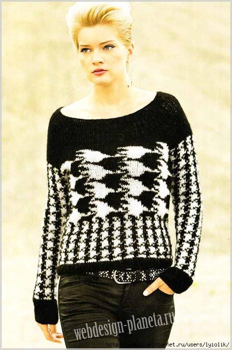 zhenskij-pulover-spitsami-s-uzorom-kurinaya-lapka-foto (465x700, 200Kb)