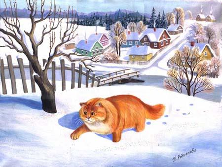 Кошки Татьяны Родионовой1 (450x339, 168Kb)