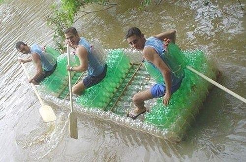 лодка из бутылок (500x329, 50Kb)