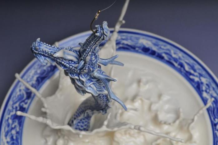 Как сделать сказочного дракона из теста на тарелке (88 подробных фотографий мастер-класса)