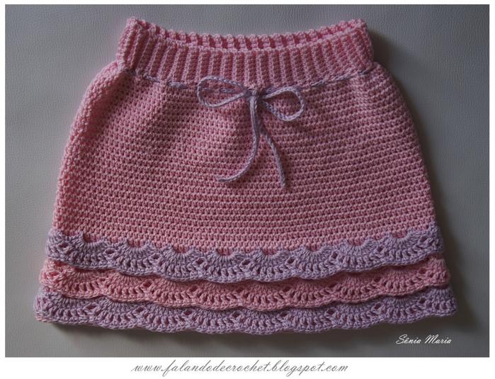 Связать юбку девочке 1 год