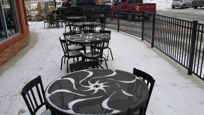 18 инсталляций из снега, сделанные природой