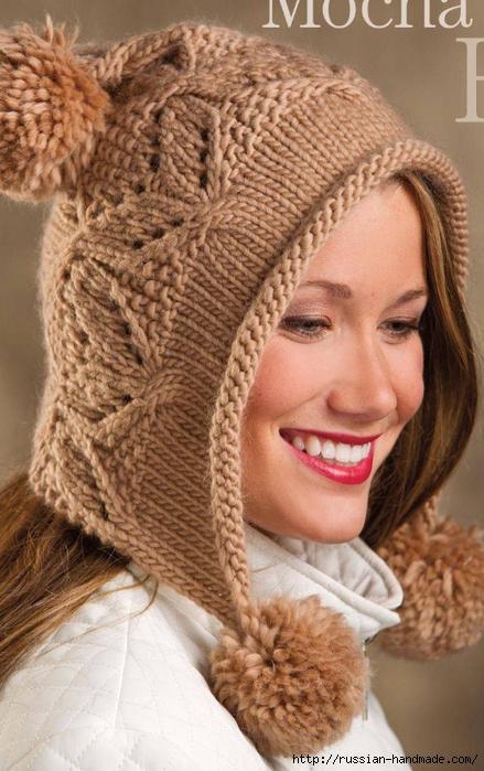 Модная шапочка ШЛЕМ спицами (1) (439x700, 272Kb)