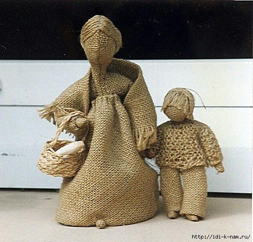 кукла из мешковины, что можно сделать из мешковины, деревенская кукла, как сделать чердачную куклу,