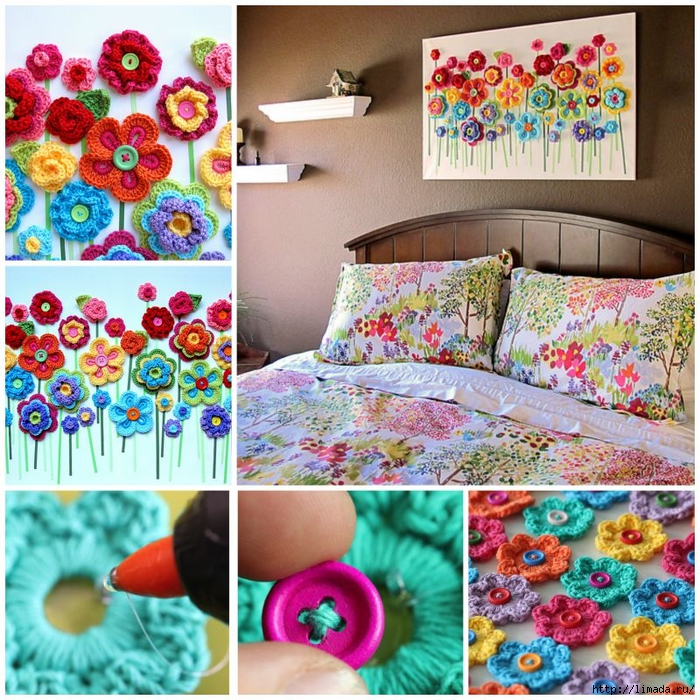 DIY-Crochet-Button-Floral-Wall-Art (700x700, 475Kb)