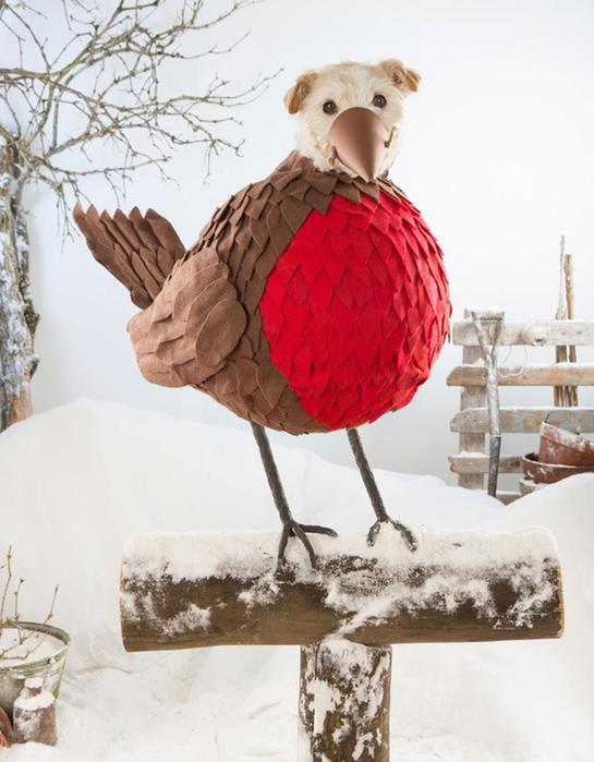 Рождественские открытки с собаками вместо оленей, кроликов и других