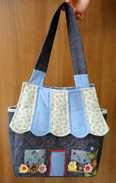 Подборка лоскутных сумок и сумок с аппликацией
