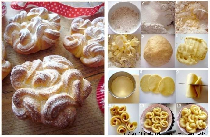 красивые булочки схемы