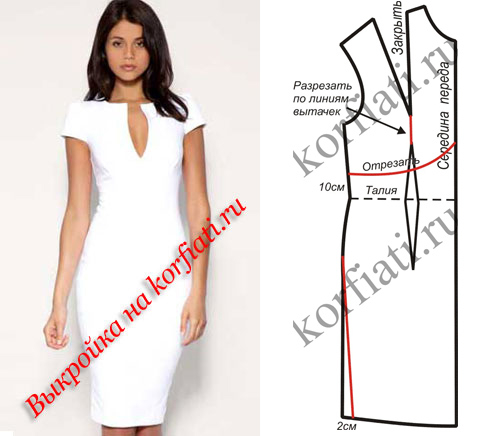 Платье футляр и как сшить самой