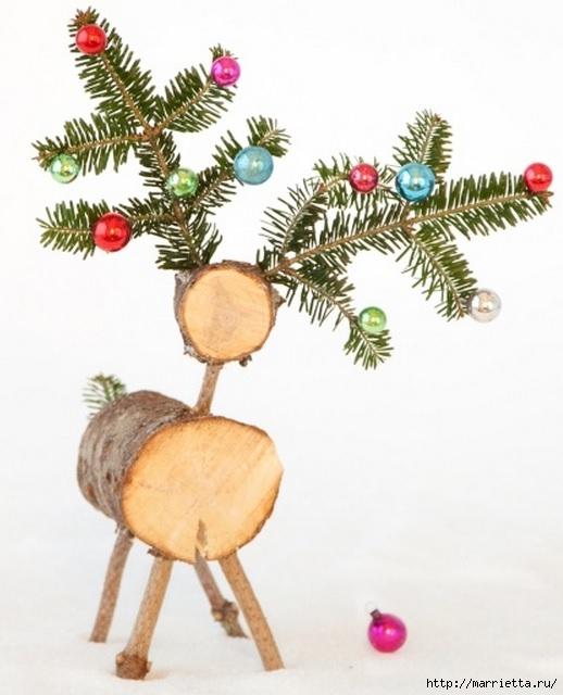 Рождественские ОЛЕНИ из пробок и веток (24) (518x640, 155Kb)